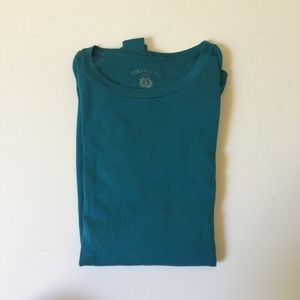 J.Crew M Teal Long Sleeve Perfect Fit T-Shirt NWOT